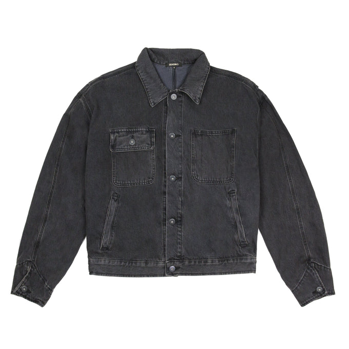 WORKER JEAN JACKET FADED INK