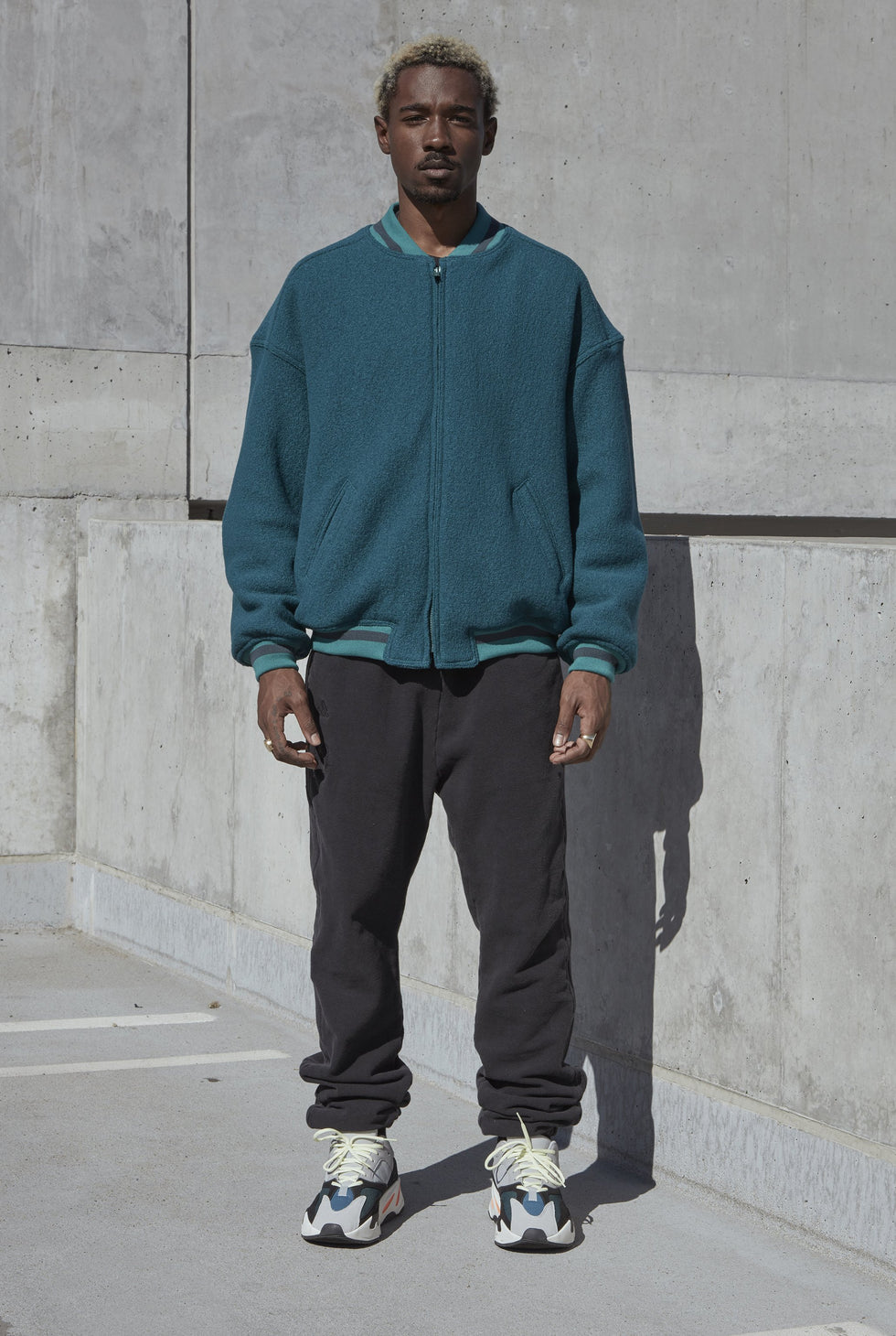 WOOL BOMBER TEAL