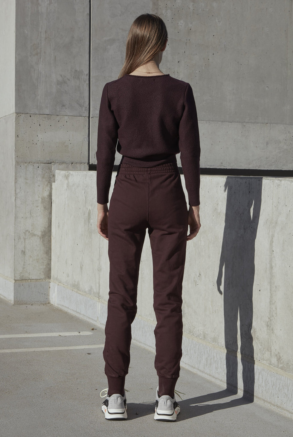Pintuck Sweatpants Oxblood
