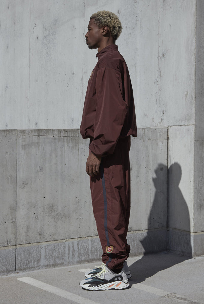 HALF ZIP WINDBREAKER OXBLOOD