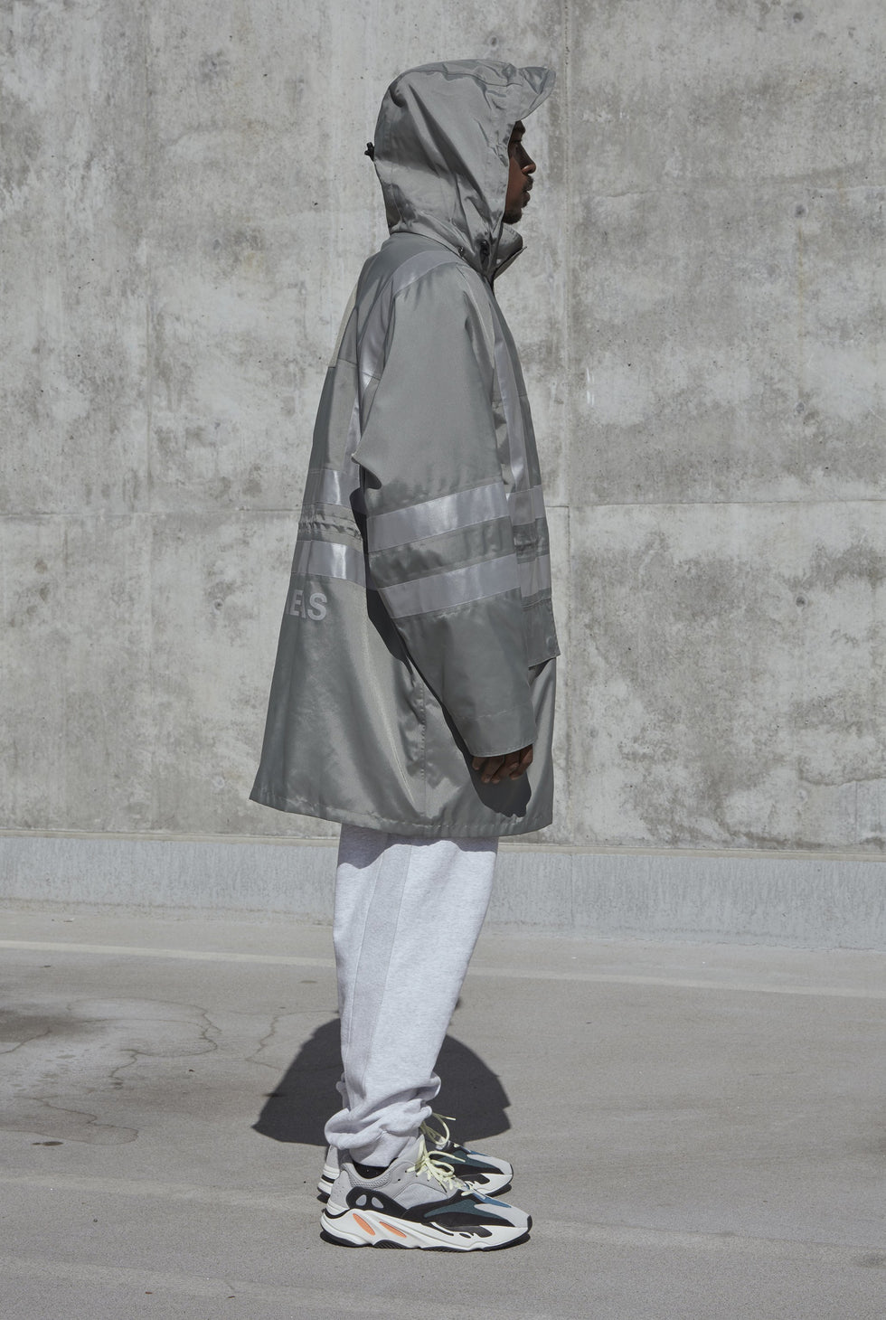Construction Parka Silver Reflective