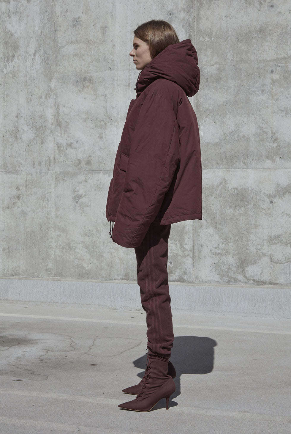 SHORT PUFFER OXBLOOD