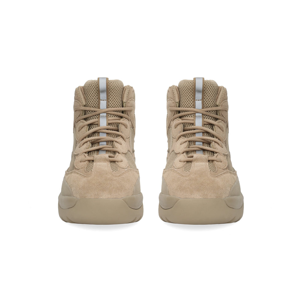 Thick Suede Desert Boot Taupe