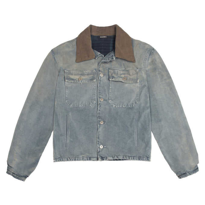 Flannel Lined Canvas Jacket Glacier