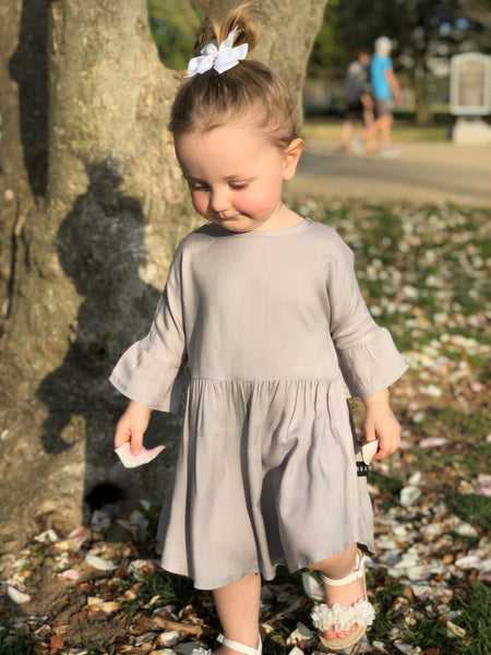 Huxbaby Grey Woven Dress- The Joys of Shopping Small