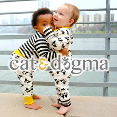 Cat and Dogma organic pajamas for kids and babies.