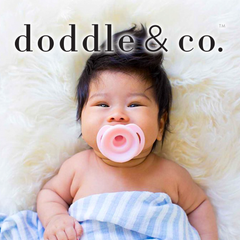 Doddle & Co pacifiers for babies.