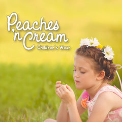 Peaches 'n Cream dresses, rompers, and clothing for little girls.