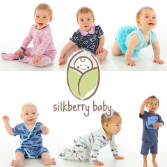 Silkberry Baby pajamas, rompers, and onesies for babies and children.