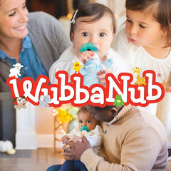 Wubbanub pacifiers for babies and children.