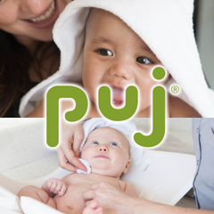 Puj bathing aids for babies and children.