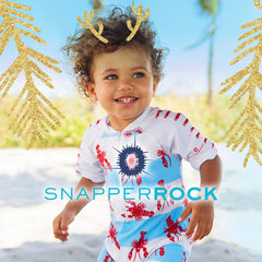 Snapperrock sun protection swimwear for kids 0-16 years from New Zealand. Super stylish UV50+ rash tops, baby one piece sunsuits, board shorts, hats. Protect your child from the sun.