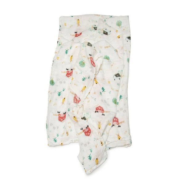 Farm Animals Muslin Swaddle