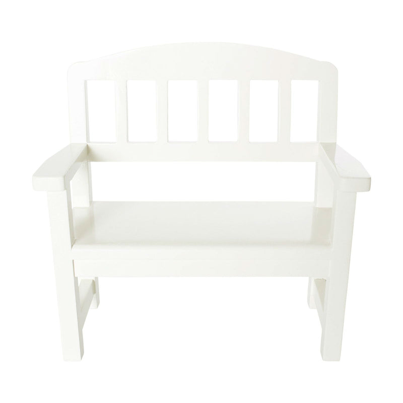 Wooden Bench, Off White