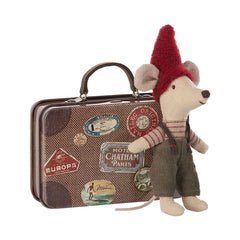 Mouse, Christmas Mouse in Travel Suitcase