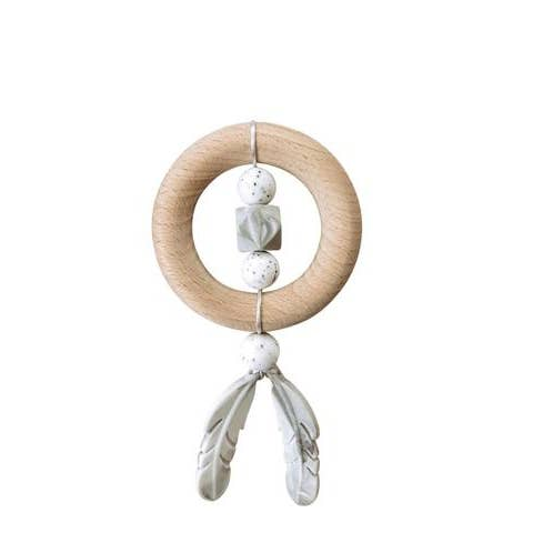 Moonstone Dreamcatcher Silicone Wood Teether
