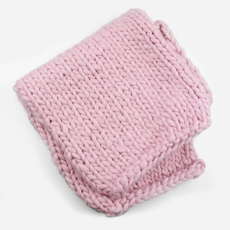 Pink Thick Knit Blanket