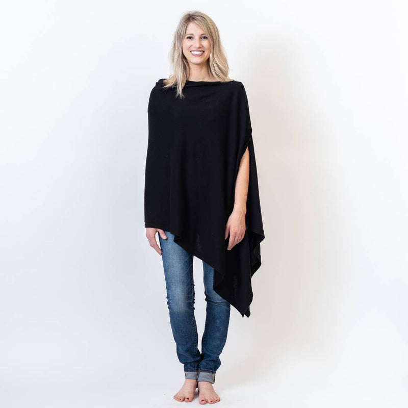 Black Organic Cotton Nursing Poncho