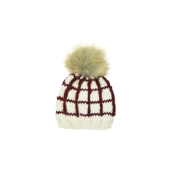 Windowpane Pomegranate Hat