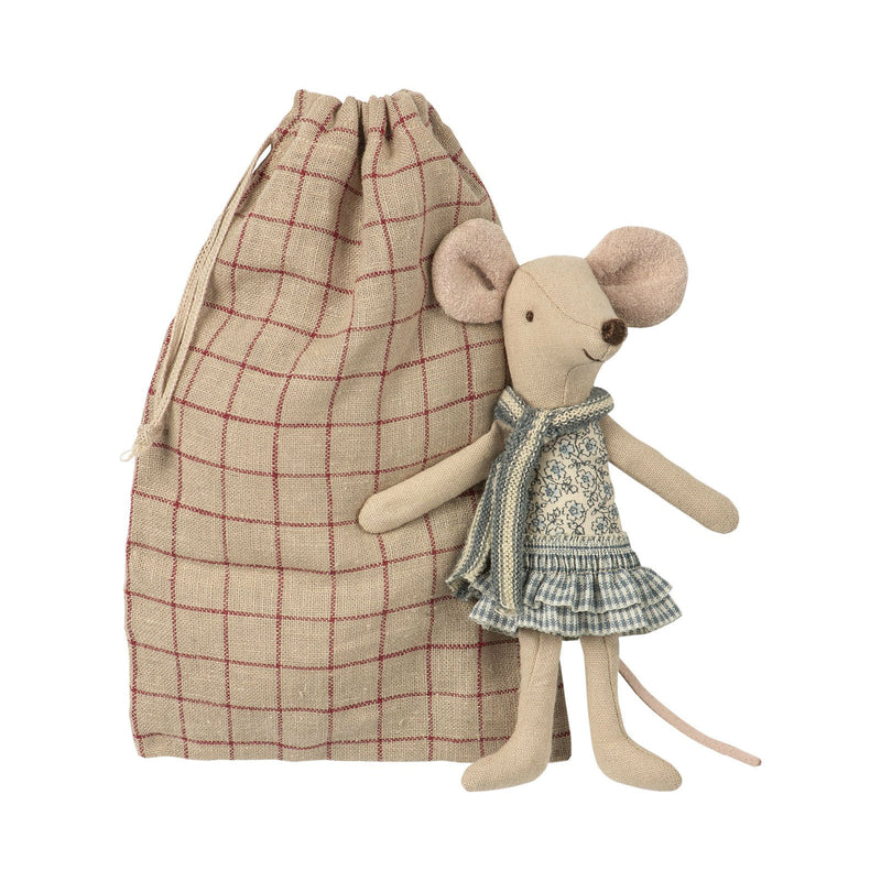 Winter Mouse, Big Sister in Bag