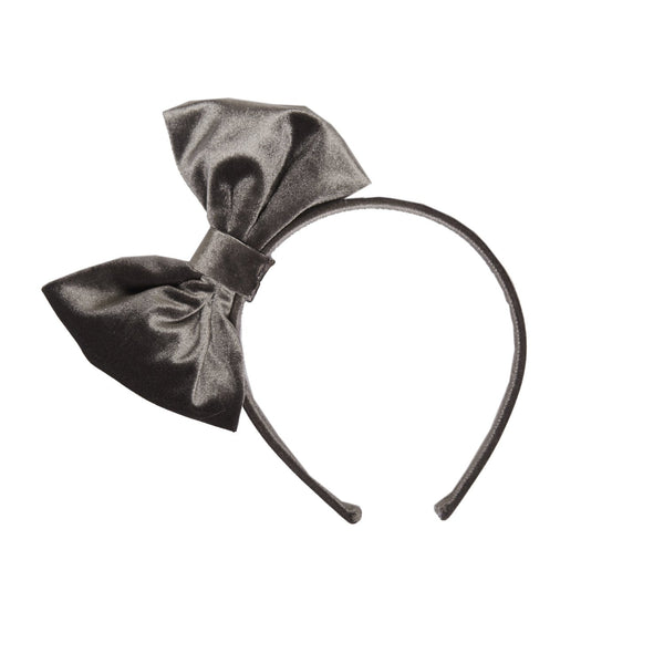 Blair Grey Velvet Holiday Headband