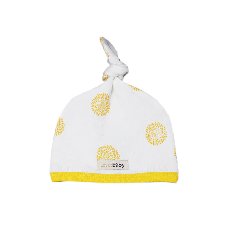 Yellow Sunflower Top Knot Hat