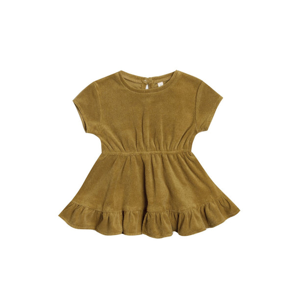 Ocre Terry Dress