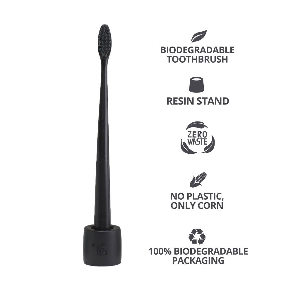 Bio Toothbrush and Stand- Pirate Black
