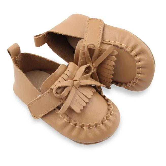 Soft Sole Baby Leather Moccasin | Color 'Monaco Tan'