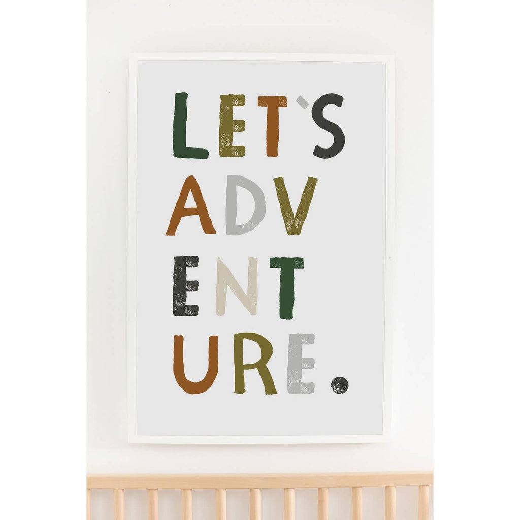 Let's Adventure Art Print  11x14