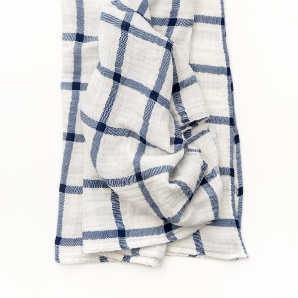 Navy Plaid Swaddle