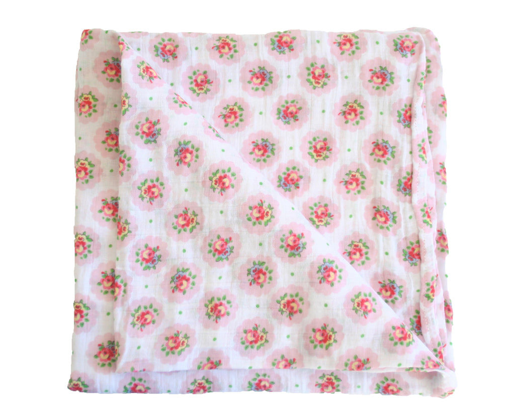 Floral Medallion Muslin Swaddle