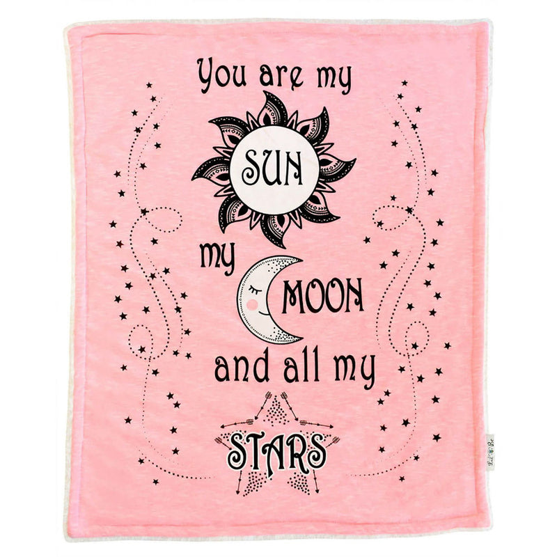 Cozy Sun Moon Stars Blanket