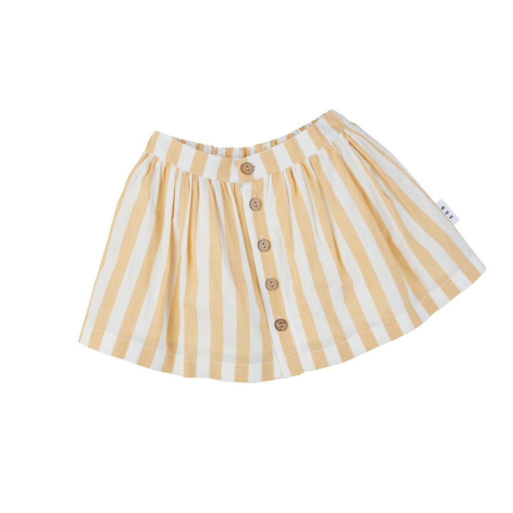 Golden Stripe Button Front Skirt