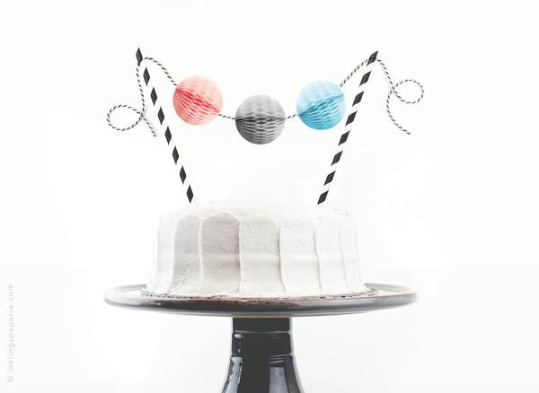 Pink and Blue Cake Topper