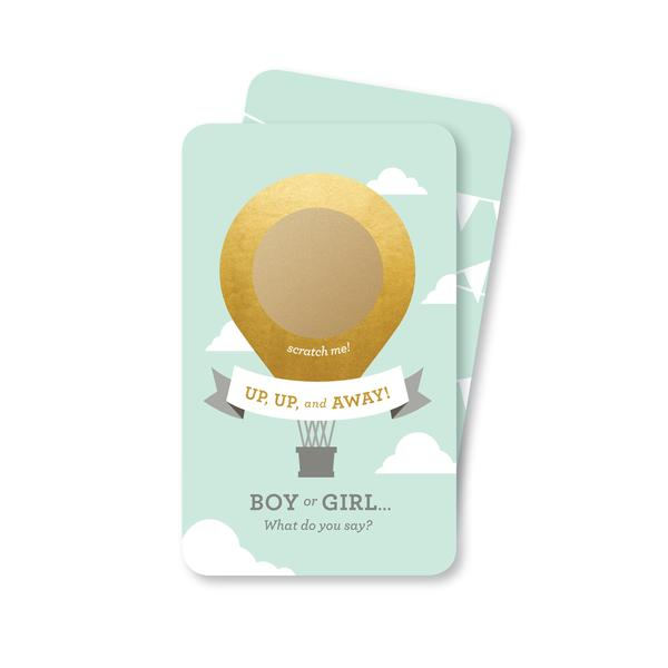 Hot Air Balloon Gender Reveal Scratch Off Girl