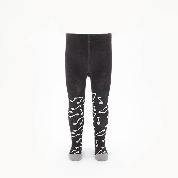 KARMA - Baby Music Note Tights - CHARCOAL