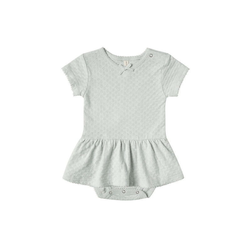 Sea Glass Pointelle Skirted Onesie