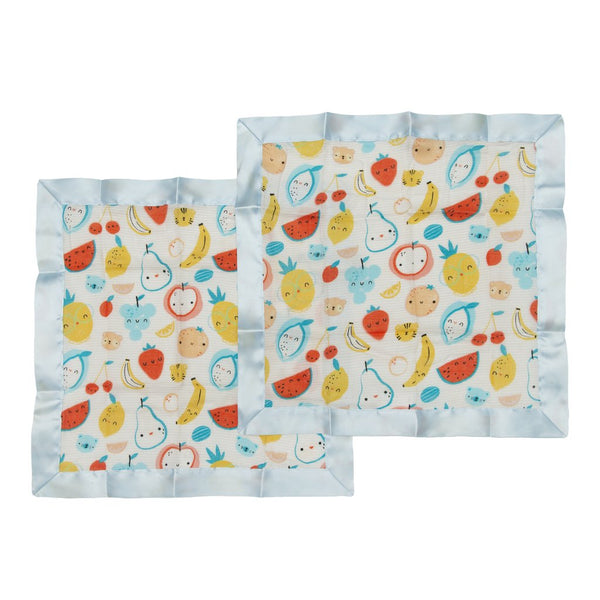Cutie Fruits Security Blanket 2 Pack