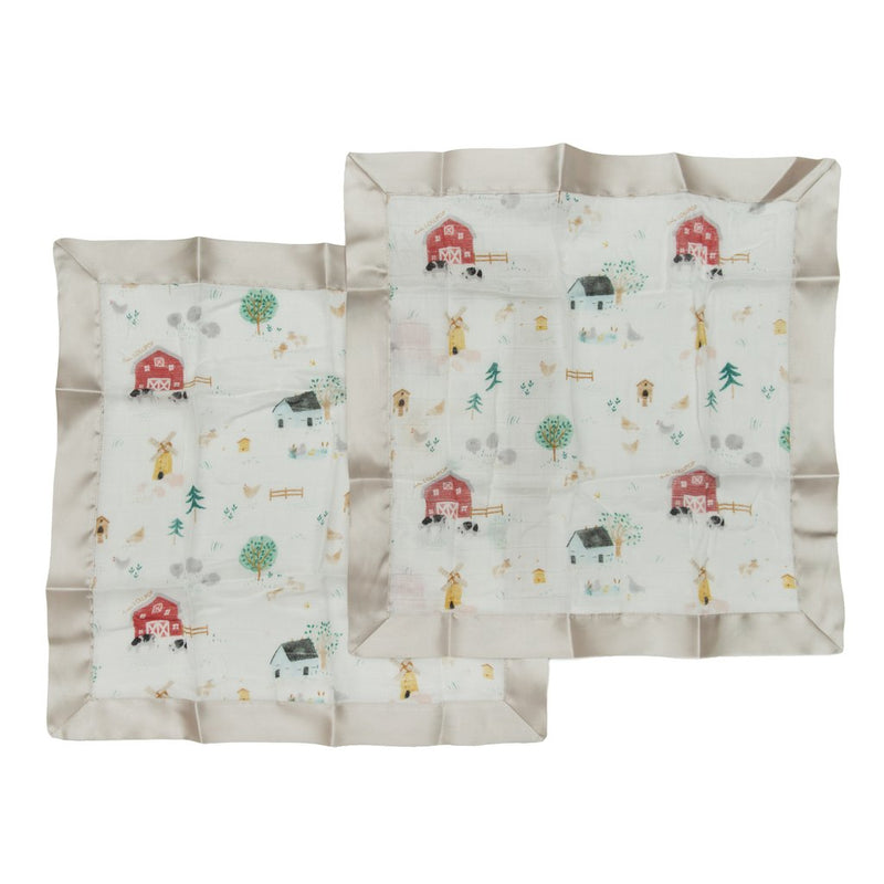 Farm Animals Security Blanket 2 Pack