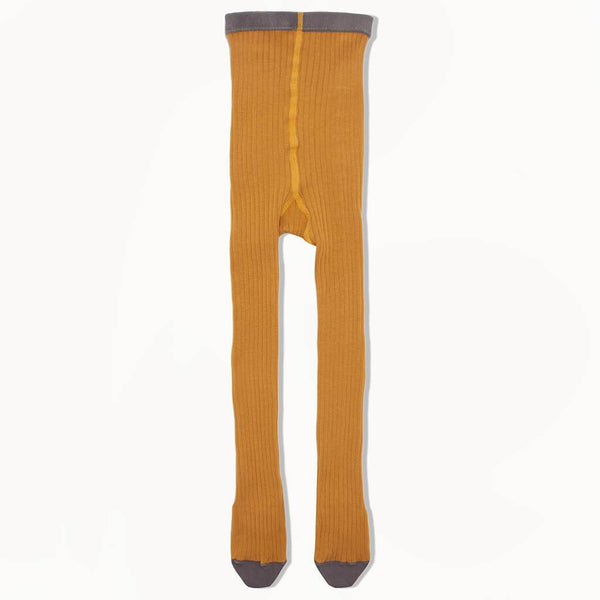 NELSON - Baby Plain Ribbed Tights - GINGER