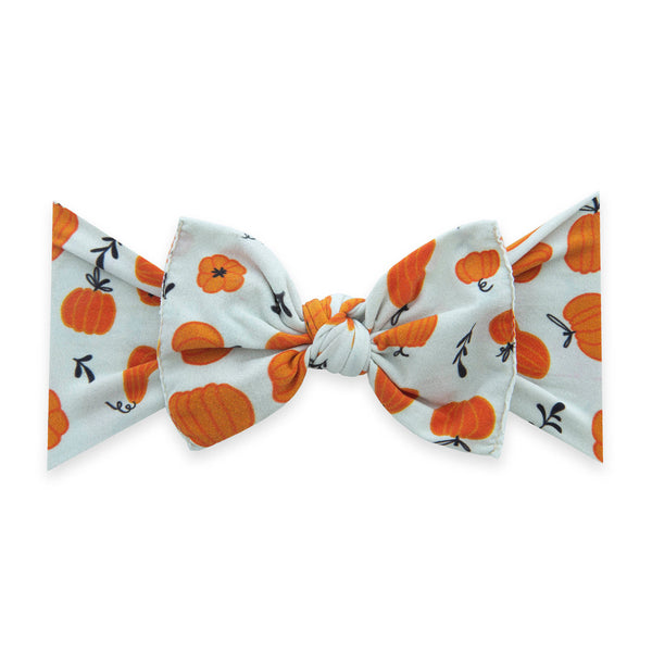 Baby Bling Bows: Punkin Printed Knot