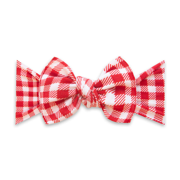 Cherry Check Printed Knot