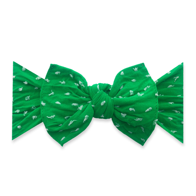 Kelly Green Patterned Shabby Knot
