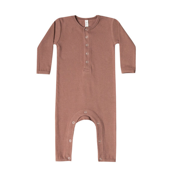 Clay Ribbed Baby Jumpsuit