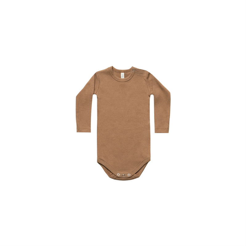 Copper Ribbed Longsleeve Onesie