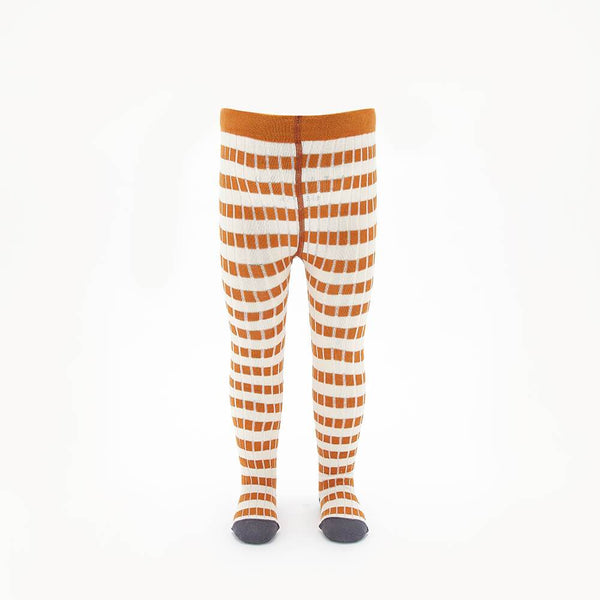SPEAKER - Baby Striped Ribbed Tights - GINGER