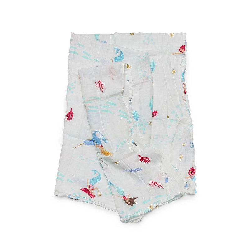 Mermaids and Narwhals Muslin Swaddle
