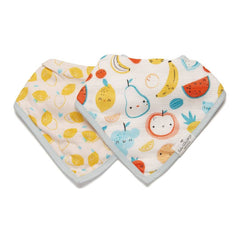 Cutie Fruits Bandana Bib Set