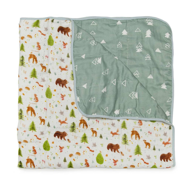 Forest Friends Muslin Quilt Blanket